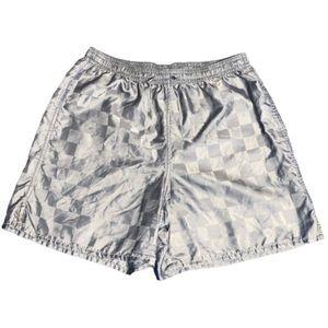 Umbro silver gray checkered vintage shorts